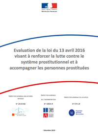 Evaluation de la loi du 13 avril 2016